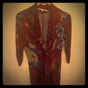 EUC- Rachel Roy 3/4 sleeve Multicolored Dress.
